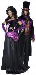 Disfarce de casal conde e condessa de Halloween