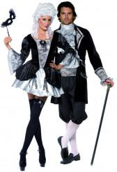 Disfarce casal barroco vampiros Halloween