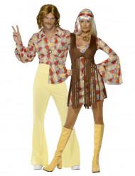 Disfarce de casal hippie anos 70