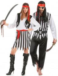 Disfarce de casal piratas