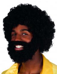 Peruca Mambo com barba e bigode Adulto