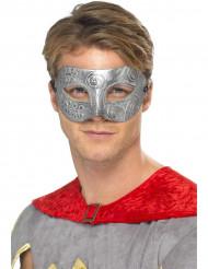 Máscara de Colombino prateada adulto
