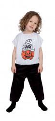 Disfarce fantasma e abóbora Halloween criança