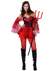 Disfarce de diaba para mulher Halloween