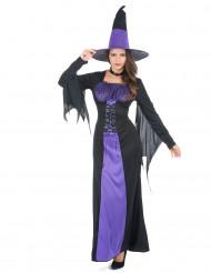 Disfarce bruxa mulher Halloween com corpete