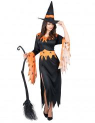 Disfarce bruxa mulher Halloween