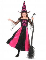 Disfarce bruxa recortada menina Halloween