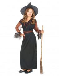 Disfarce bruxa preto menina Halloween