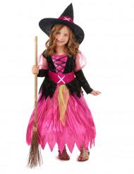 Disfarce bruxa rapariga para Halloween