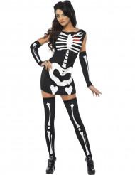 Disfarce esqueleto sexy mulher para Halloween