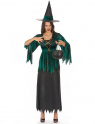 Disfarce de bruxa gótica mulher Halloween