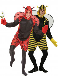 Disfarce de casal abelha e joaninha homem