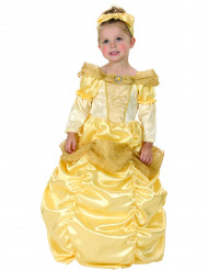 Disfarce princesa dourado menina