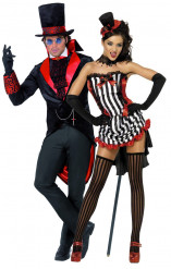 Disfarce casal vampiros Halloween