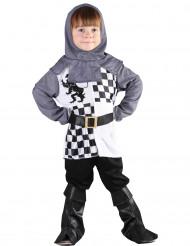 Disfarce cavaleiro menino xadrez