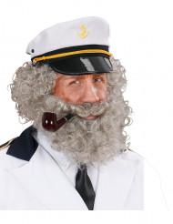 Barba e bigode de marinheiro homem