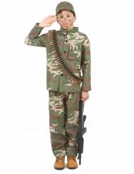 Disfarce de soldado para rapaz