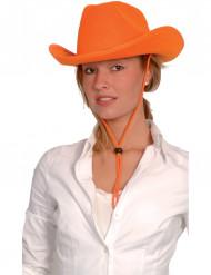 Chapéu de cowboy cor-de-laranja