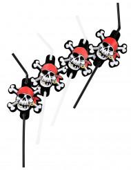 Palhas flexíveis de pirata
