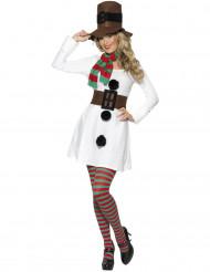 Disfarce boneco da neve Mulher Natal