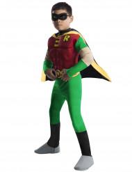 Disfarce Robin™ de luxo musculoso criança - teen Titans Go™