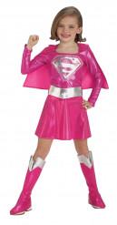 Disfarce Supergirl™ cor-de-rosa menina
