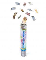 Canhão de confettis de notas
