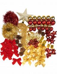 Kit completo de decoração para pinheiro de Natal