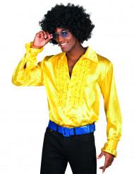Camisa amarela disco para homem