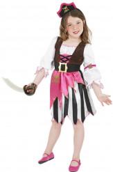 Disfarce pirata rosa para menina