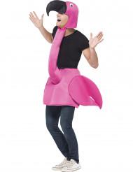 Disfarce flamingo cor-de-rosa para adulto