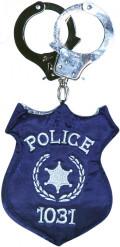 Bolsa de crachá da polícia