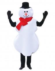 Disfarce boneco de neve Natal para adulto