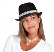 Chapéu pérolas brilhantes