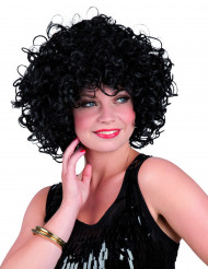 Peruca encaracolada preta para mulher