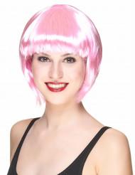 Peruca cabaret rosa Adulto