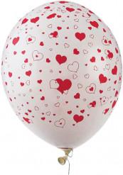 50 balões coração