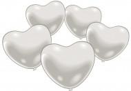 10 Balões coração branco