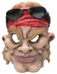 Máscara caricatura motard americano adulto