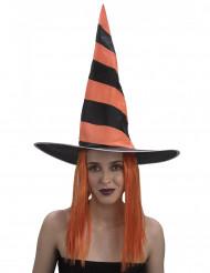 Peruca feiticeira mulher Halloween