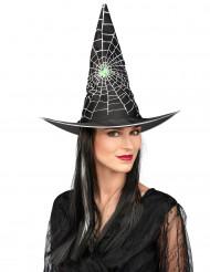 Chapéu com peruca de bruxa mulher Halloween