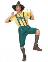 Disfarce de bávaro para homem amarelo e verde