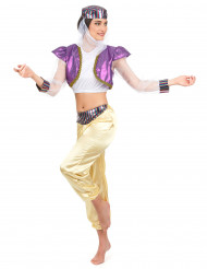 Disfarce de dançarina oriental colorida mulher