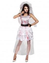 Disfarce noiva zombie mulher Halloween