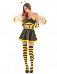 Disfarce abelha mulher com flor