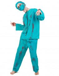 Disfarce cirurgião zombie adulto Halloween para homem