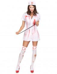 Disfarce enfermeira psicopata mulher Halloween