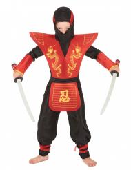 Disfarce de ninja menino dragões