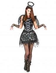 Disfarce anjo gótico mulher