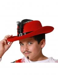 Chapéu de mosqueteiro para criança